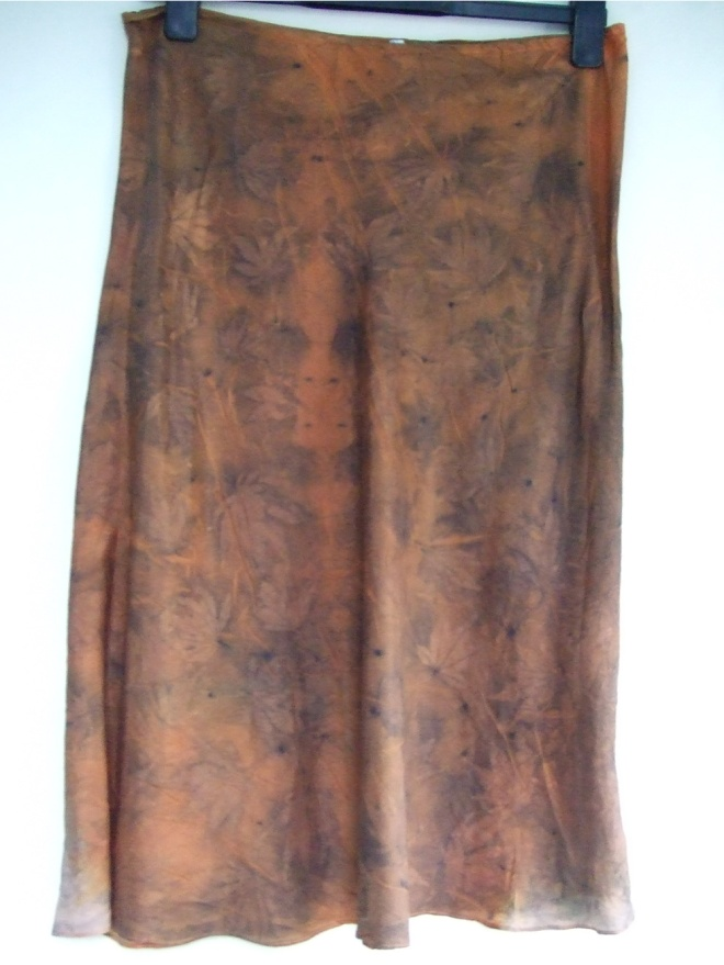 ecoprint maple skirt orange 2