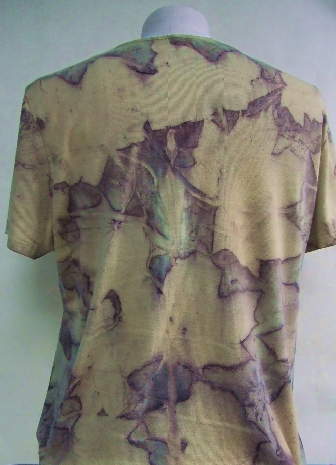 ecoprint yellow sycamore tshirt 2