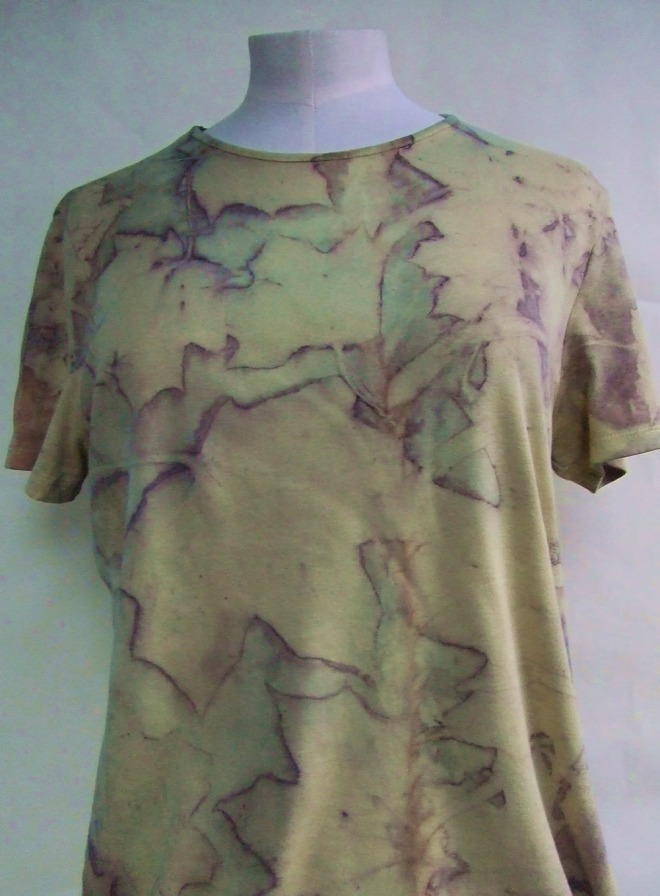 ecoprint yellow sycamore tshirt