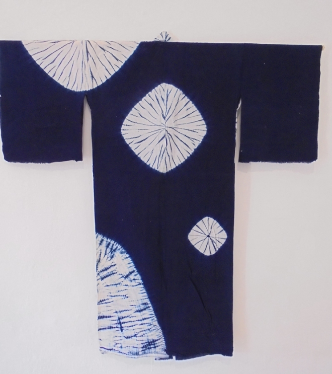 Inidigo shibori kimono