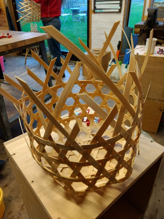 hexagonal weave basket