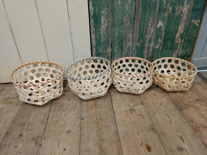 hexagonal weave baskets